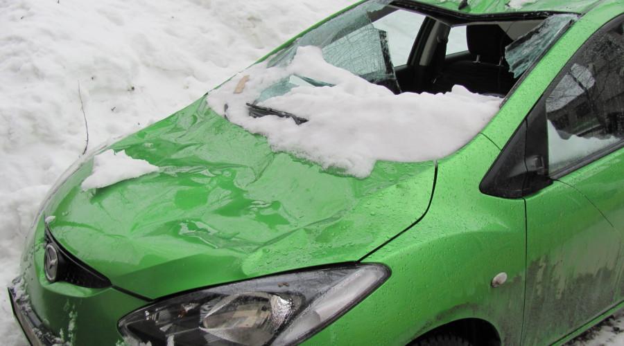 фото снега на машине