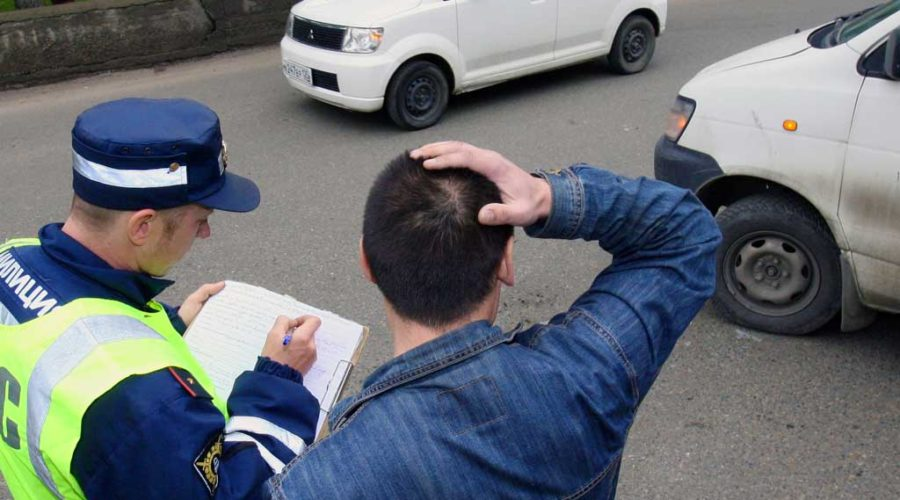 фото виновника ДТП, не признающего вину
