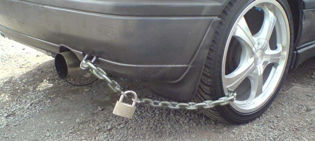 фото защиты от кражи частей автомобиля