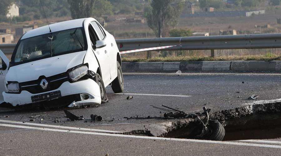фото ущерба по вине дорожных служб