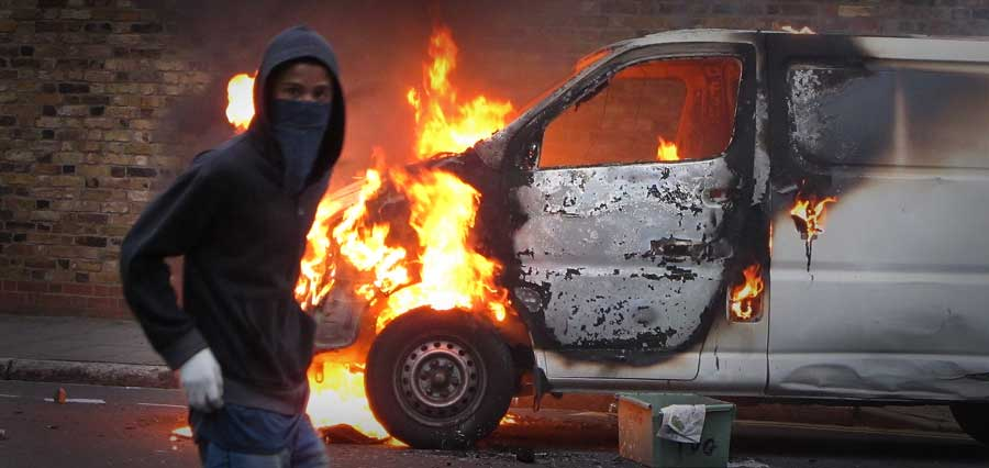 фото поджигателя машины