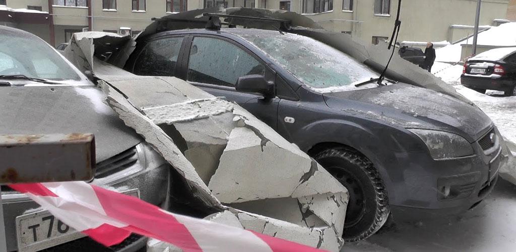 фото поврежденной машины