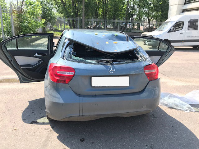 фото поврежденного авто